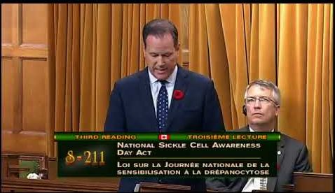 National Sickle Cell Awareness Day Act Passed by the Canadian Government