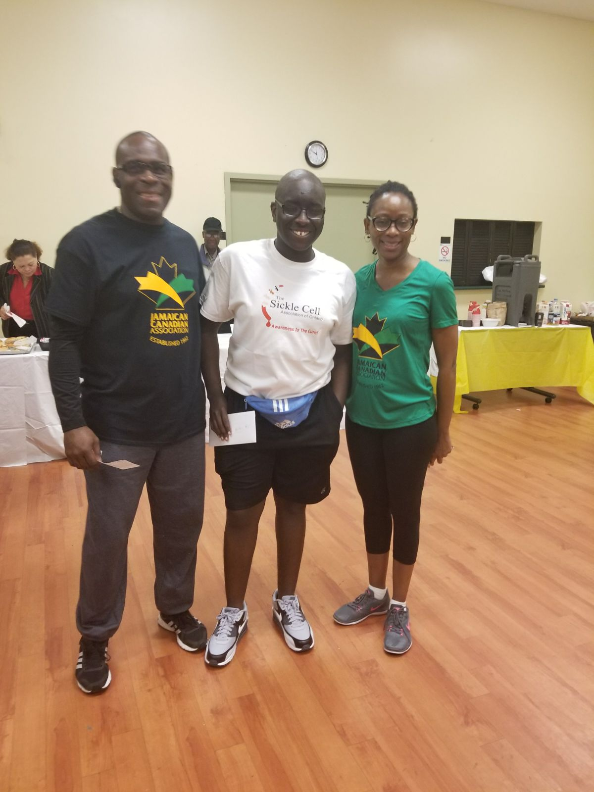 JCA Walk-a-ton first place 10K winner, Jaden Boyd with JCA President and Treasurer