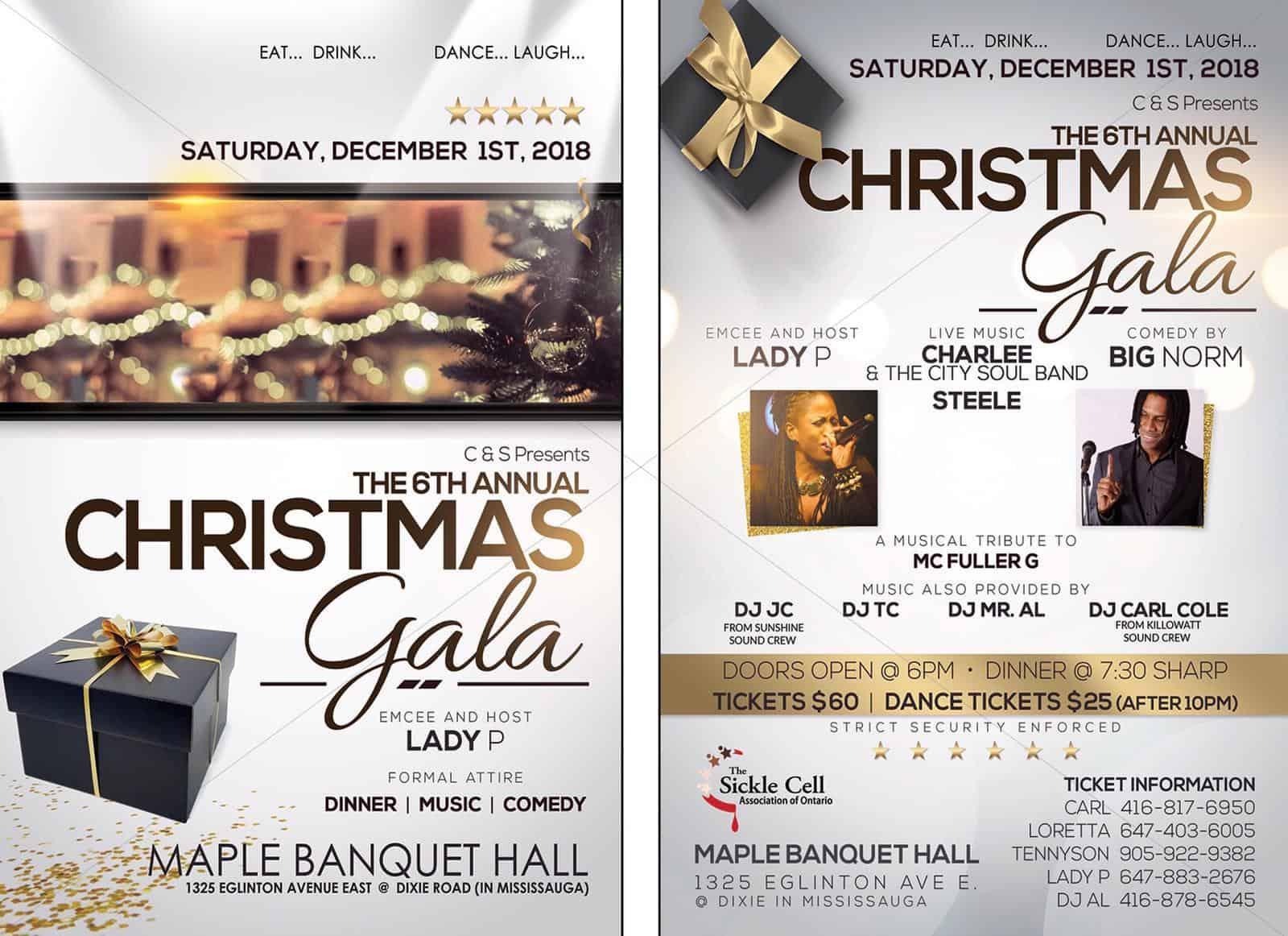 Christmas Fundraiser Flyer.Community Fundraiser C S 6th Annual Christmas Gala